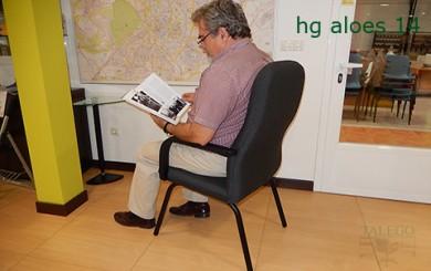 Vista trasera de sillón para personas modelo hg aloes
