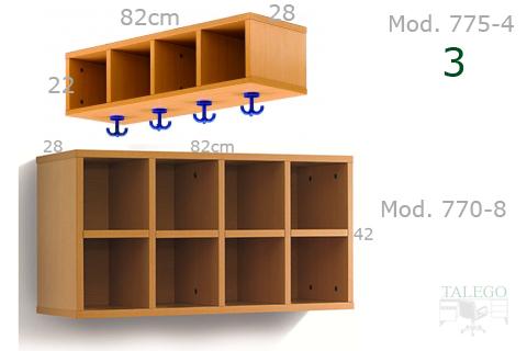 Altillo clasificador para armario en haya