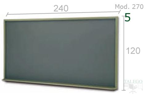 Pizarra de tiza verde para colegio de 240x120