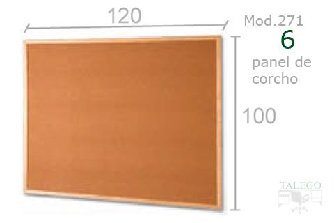 Tablero de corcho para aulas de 120x100