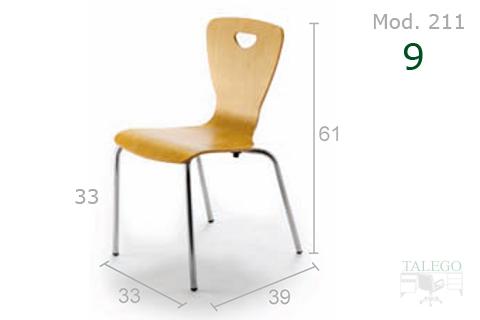 Mesa de madera para colegios modelo me 211