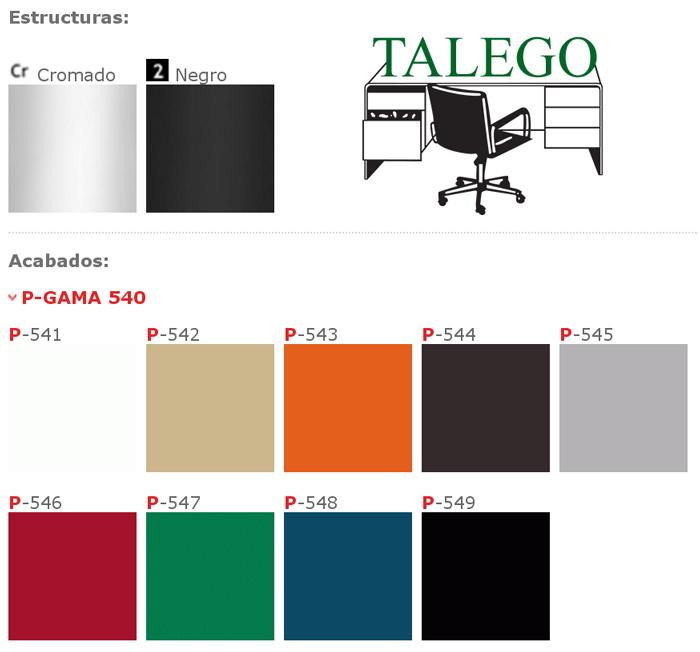 Colores en carcasa y tubo disponibles para silla de carcasa me