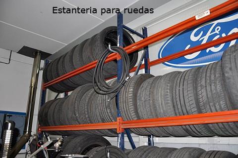 Estanterías para ruedas