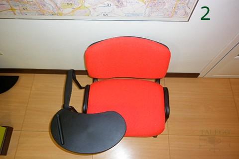 Vista superior para apreciar pala de silla de pala se iso tapizada