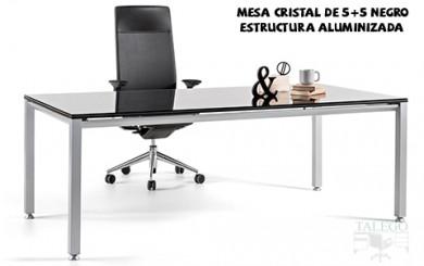 Mesa de cristal negro vital
