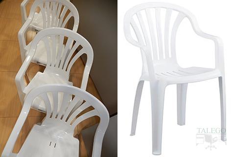 silla de plástico apilable