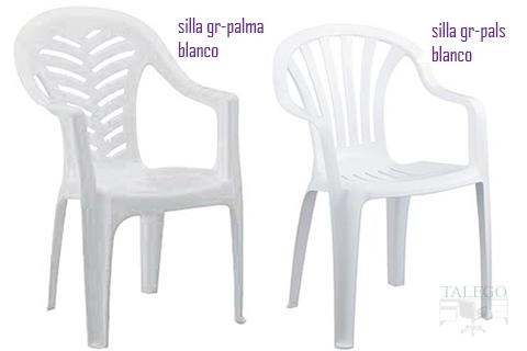 silla apilable de plastico