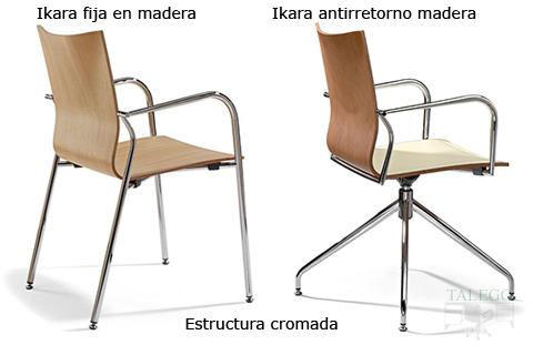 Sillon de diseño ikara en madera