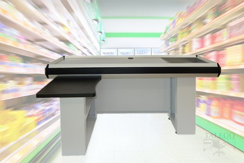 Mostrador de supermercado metalico