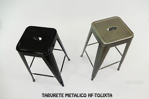 Taburete de bar metalico