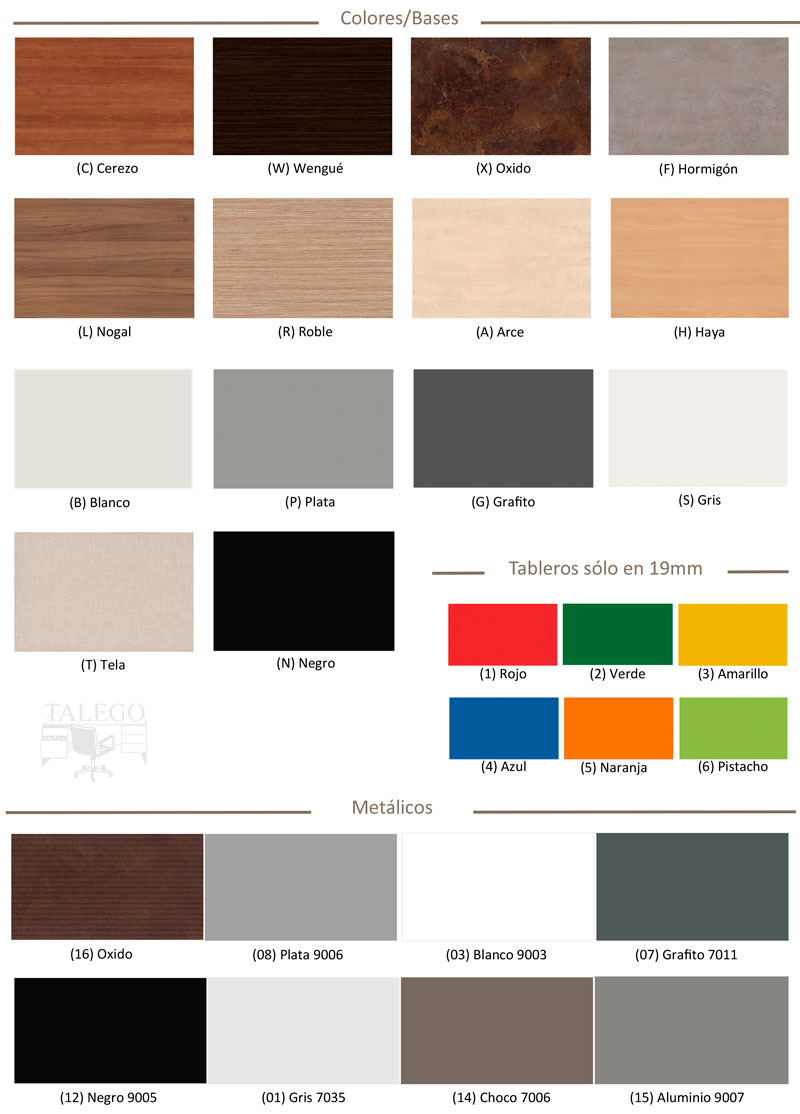 Colores mesa oficina coll