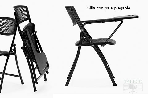 Silla plegable con pala abatible