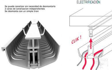 Electrificacion para mesa de oficina