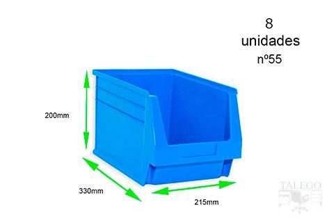 gaveta de plastico apilable 55