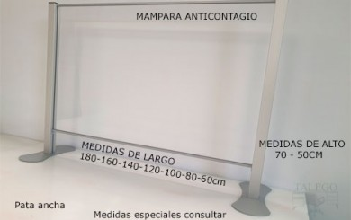 Mampara anticontagio