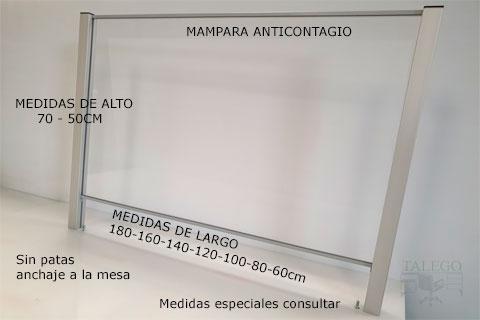Mampara anticontagio