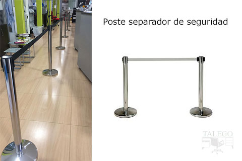 Poste separador de seguridad