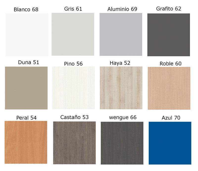 Colores melaminas k de muebles talego