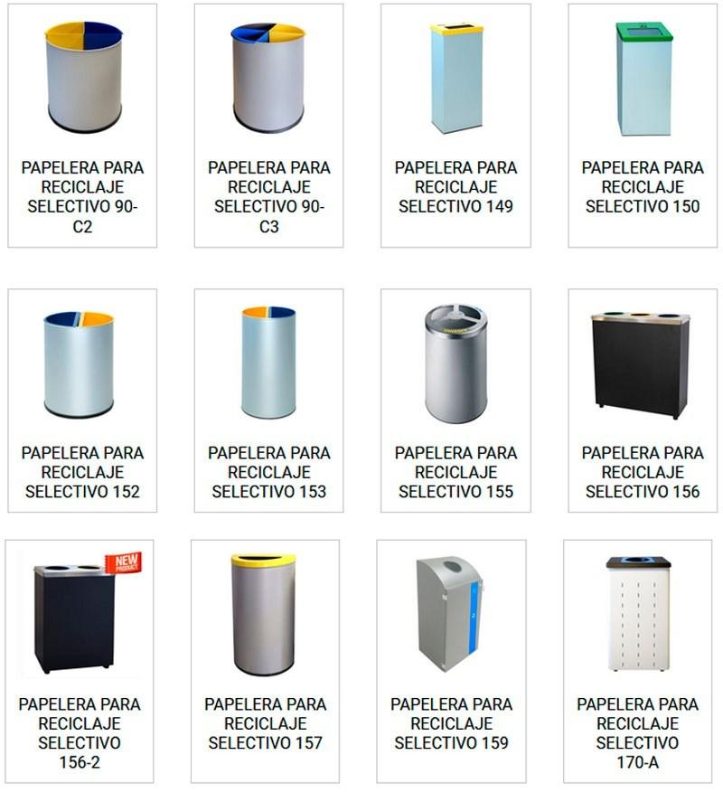 Papeleras metalicas de reciclar