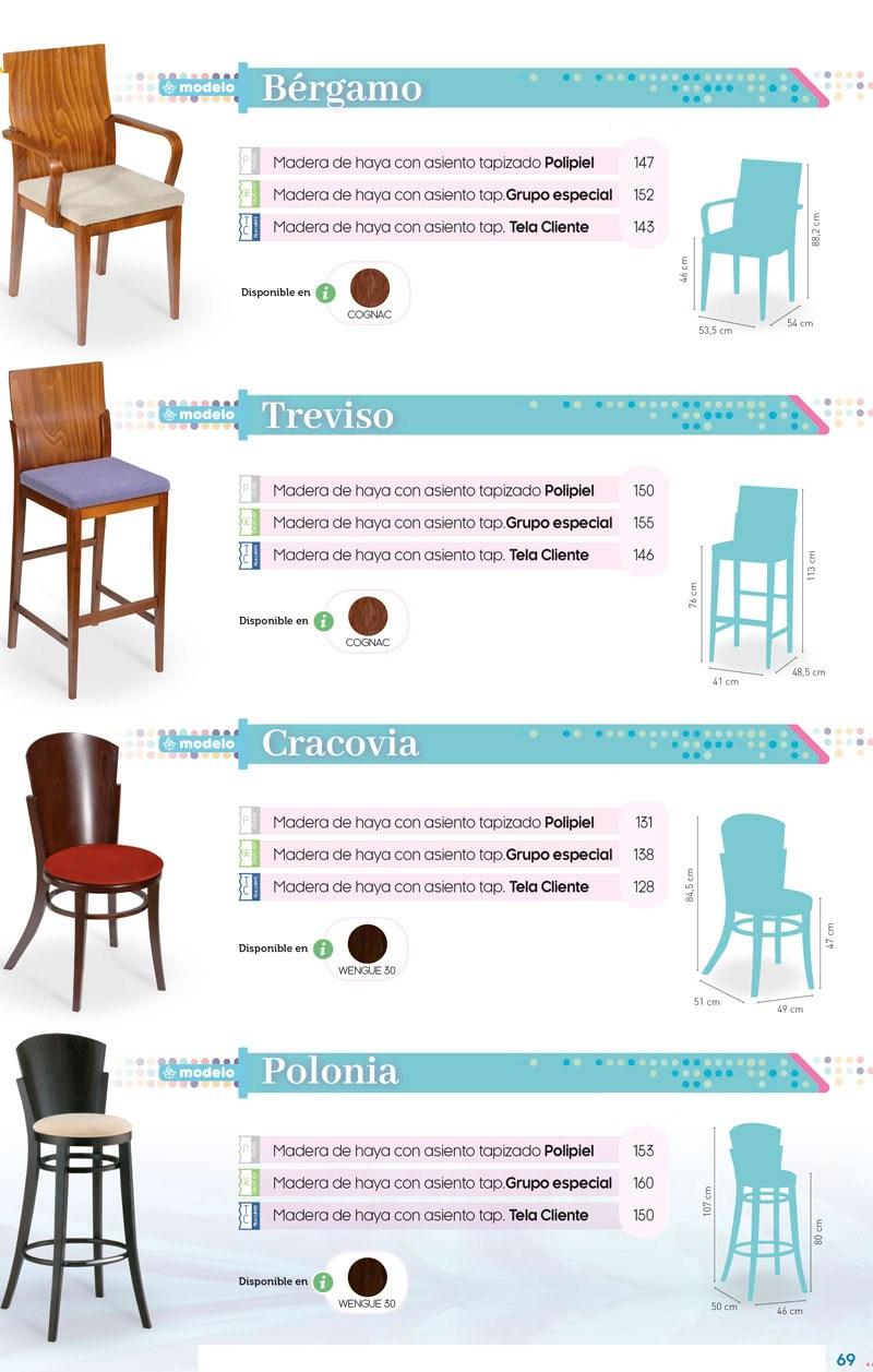 Sillas y taburetes hosteleria con diseño
